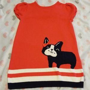 Gymboree sweater dress 2t Boston Terrier